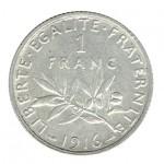 França 1 Franco de 1916