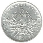 França 5 Francos de 1961