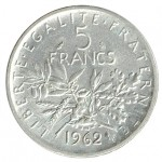 França 5 Francos de 1962
