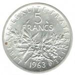 França 5 Francos de 1963