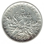 França 5 Francos de 1964