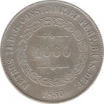 Brasil 1000 Reis 1850