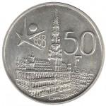 Bélgica 50 Francos de 1958