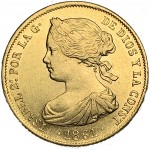 Espanha 100 Reales 1861 Sevilha