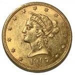 USA 10 Dólares 1907 D