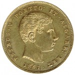 D. Pedro V 5000 Réis de 1861