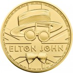 UK Elton John 2020 1 Onça (100 Pounds) Ouro BU (esgotado na Royal Mitnt)