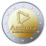 Andorra 2€ País dos Pirinéus 2017