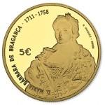 Portugal 5€ Maria Bárbara de Bragança 2017 Ouro Proof