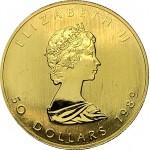 Canada 50 Dólares (1Oz.) 1989 ouro