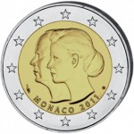 Monaco 2€ Casamento do Príncipe Alberto e Charlene 2011