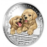 Tuvalu 1/2oz Golden Retriver 2018