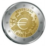 Holanda 2€ 10 Anos do Euro 2012