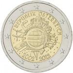 Áustria 2€ 10 Anos do Euro 2012