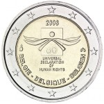 Bélgica 2€ Direitos Humanos 2008