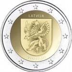 Letónia 2€ Região de Vidzeme 2016