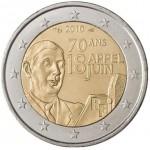 França 2€ Charles Gaulle 2010