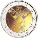 Estónia 2€ 100 Anos dos estados Bálticos 2018