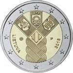 Lituânia 2€ 100 Anos dos Estados Bálticos 2018
