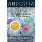 Andorra 2€ Direitos Humanos 2018