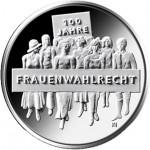 Alemanha 20€ 100 Anos do Direito de Voto Feminino 2019