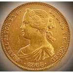 Espanha Isabel II 10 Escudos 1868