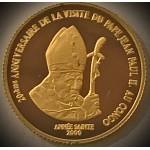 Congo, Democratic Republic (Kinshasa) 20 francos 2000 Papa João Paulo II
