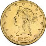 USA 10 Dollars Liberty 1880 OURO