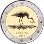 Letónia 2€ Cegonha Preta 2015