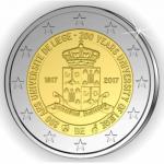 Bélgica 2€ Universidade de Liege 2017 Coincard