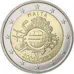 Malta 2€ 10 Anos do Euro 2012