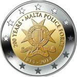 Malta 2€ 200 anos Força Policial 2014