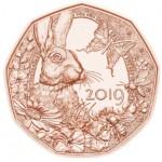 Áustria 5€ Coelho da Páscoa 2019