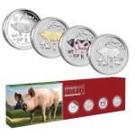 Austrália 4x 1$ Ano do Porco 2019