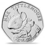Inglaterra 50 Pence Beatrix Potter - Mrs. Tittlemouse 2018