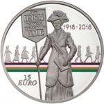 Irlanda 15€ 100 Anos do Direito de Voto Feminino 2018