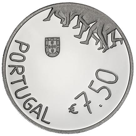 Portugal 7,5€ Rosa Mota Prata Proof 2018
