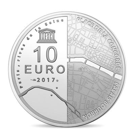 França 10€ Unesco - Margens do Sena 2017