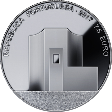 Portugal 7,5€ Álvaro Siza Prata Proof 2017
