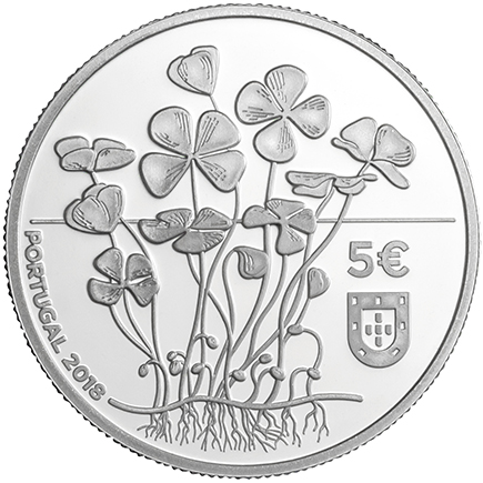 Portugal 5€ Trevo 2018 Prata Proof