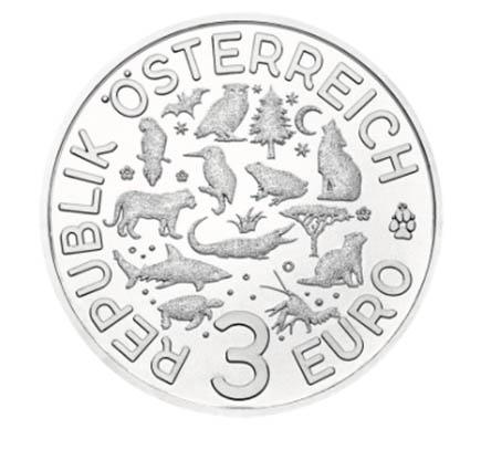 Áustria 3€ Tigre 2017