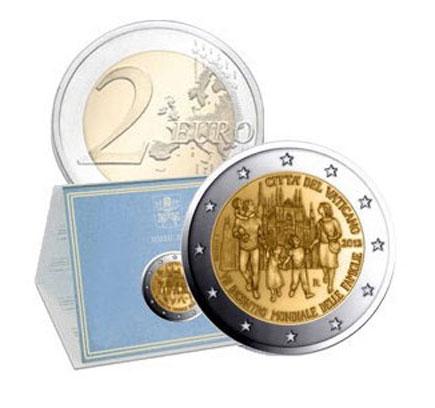 Vaticano 2€ 2012 - Reunião Mundial das Familias