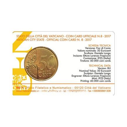 Vaticano 0,50€ Coincard 2017
