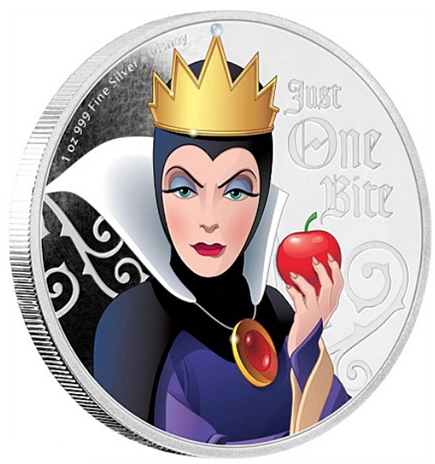 Niue 2$ Vilãs da Disney - Evil Queen 2018 - 1OZ